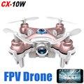 Dwi dowellin cheerson cx-10w zangão com câmera de controle remoto 2.4g 4ch 6-axis controle de telefone wifi fpv rc quadcopter