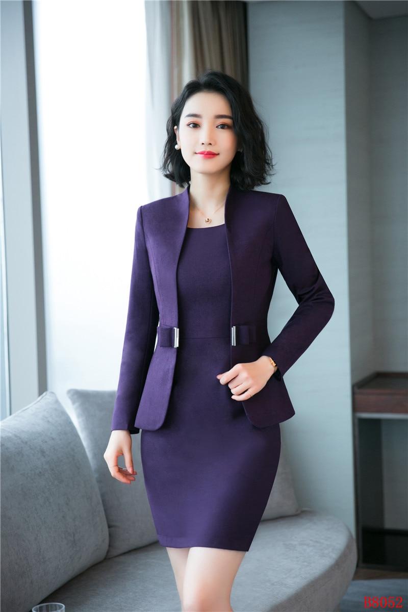 marrón púrpura Para Conjuntos Mujer De Púrpura Calidad gris Trajes Oscuro  Uniforme Negocios Blazer Y Negro Vestir Alta Formales Chaqueta ... bd2b9cbc6a2e