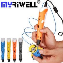 3D Stift Myriwell Drucker Griff Stift Zeichnung Druck Design Kreative Für DIY Kinder Geschenk 1,75mm ABS Filament EU US AU UK Adapter