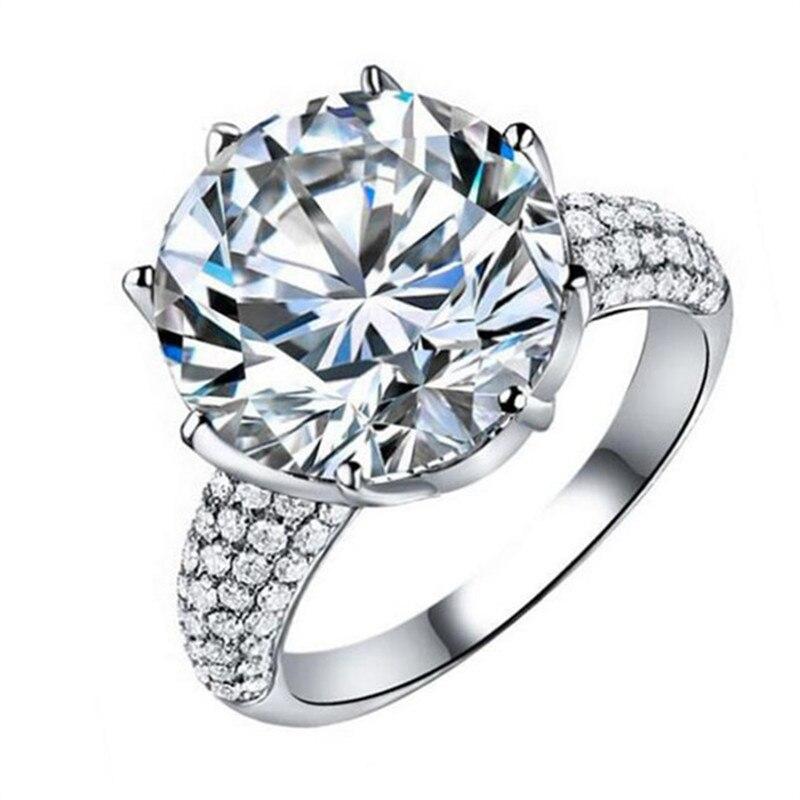 Visisap Blanc Or Couleur anneau 8 Carat Couronne AAA cubic zirconia Anneaux De Mariage Pour Les Femmes De Luxe taille 5-11 mode bijoux VSR064