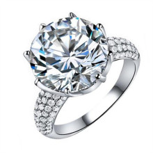 Vissap S925 Sterling Silver 8 Carat Simulate Diamond Luxury Engagement Wedding Rings For Women hot new style size 6 7 9