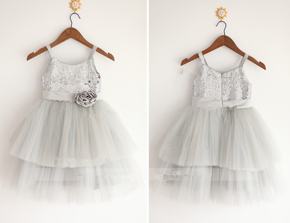 Online Get Cheap Silver Flower Girl Dresses -Aliexpress.com ...