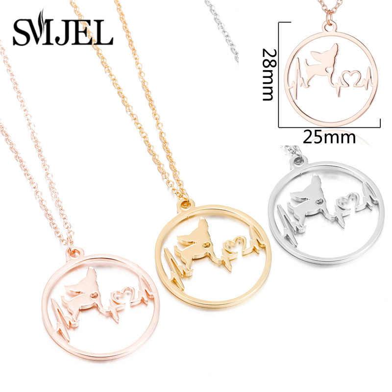 SMJEL мультфильм ожерелье с подвеской для собак для женщин Мода немецкий украшение с овчаркой сердцебиение лапа цепочка-колье для детей