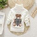 Gran Tamaño 2 T-8 T suéter de otoño invierno suéter del bebé niño niña niño de punto suéter suéteres de cuello alto los niños ropa de abrigo