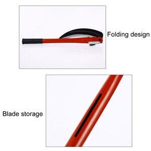 Image 3 - ACCHAMP Lightweight Gardening Grass Sickle Manganese Steel Sharp Long Handle Hand Sickle Hand Scythe for Weeding Garden Tool AA