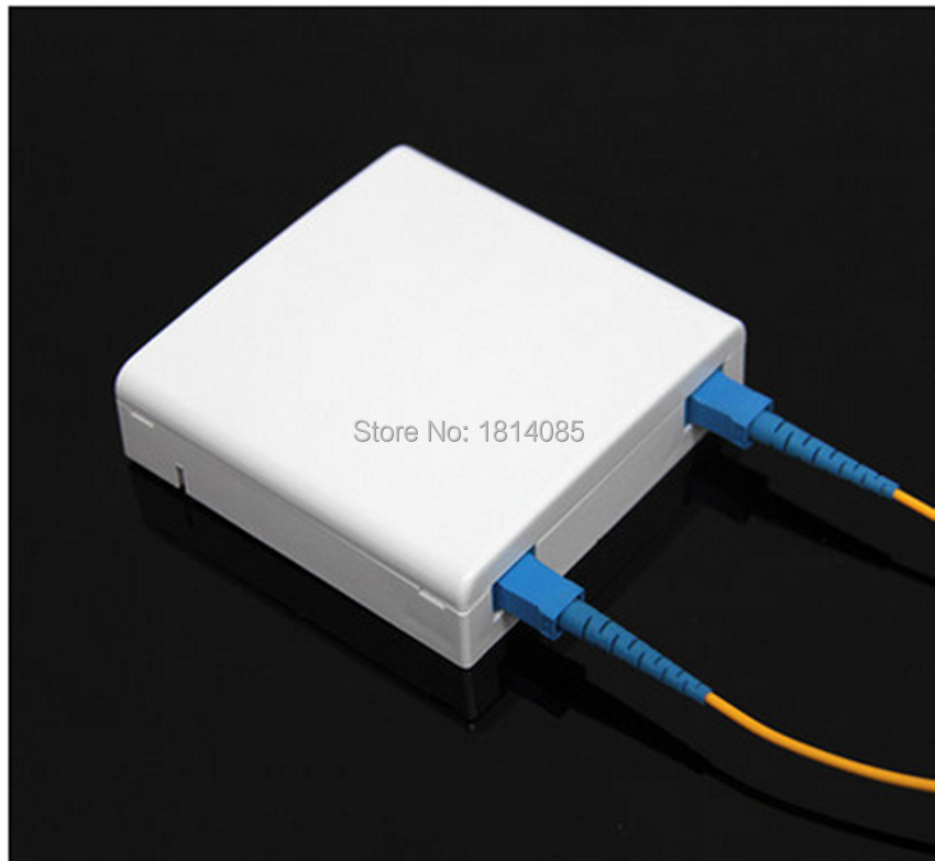 10pcs/lots 2 Core SC FTTH fiber optic socket panel fiber optic terminal junction box 86 type information panels
