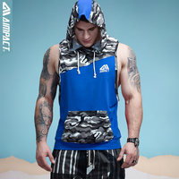 Aimpact Men S Camouflage Patchwork Tank Top Sleeveless Hoodie Crossfit Bodybuilding Cotton Fitness Muscle Tshirt Male