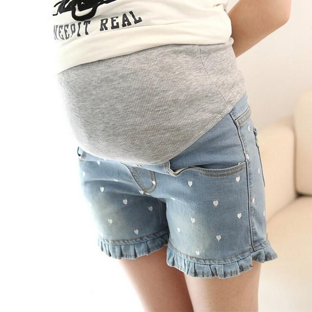 Verão Calça Casual para as mulheres grávidas 2016 calções plus size Cintura Elástica Calças de Maternidade Roupas para mulheres grávidas
