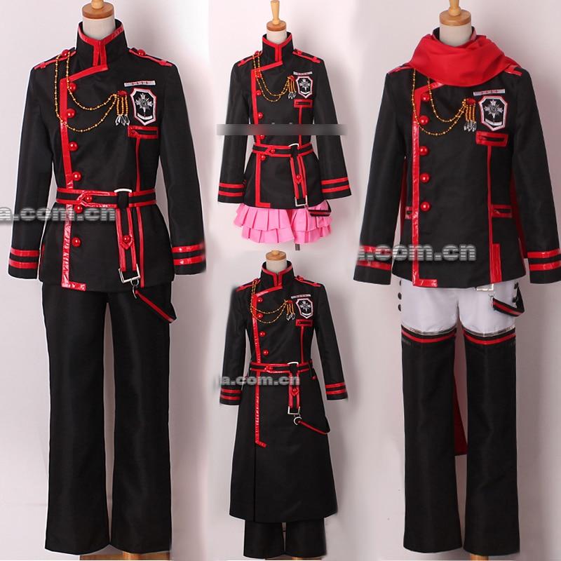 Cosonsen D Gray Man Allen Walker New Version Red Black Uniform Cosplay Costume