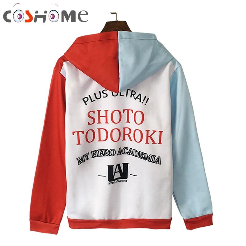 Coshome Boku No My Hero Academia Midoriya Shoto Todoroki Bakugou Cosplay Hoodies Costumes Men Men Plush Coat