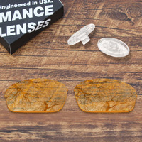 ToughAsNails Resist Seawater Corrosion Clear Yellow Replacement Lens &Clear Nose Pads for Oakley Half Wire 2.0