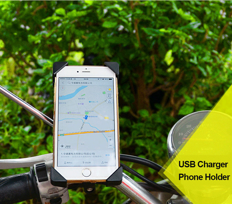 Motorcycle Holder Phone USB Charger (2)