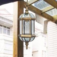 Винтажный водонепроницаемый открытый подвесной светильник для патио, Европейский древний наружный светильник для балкона