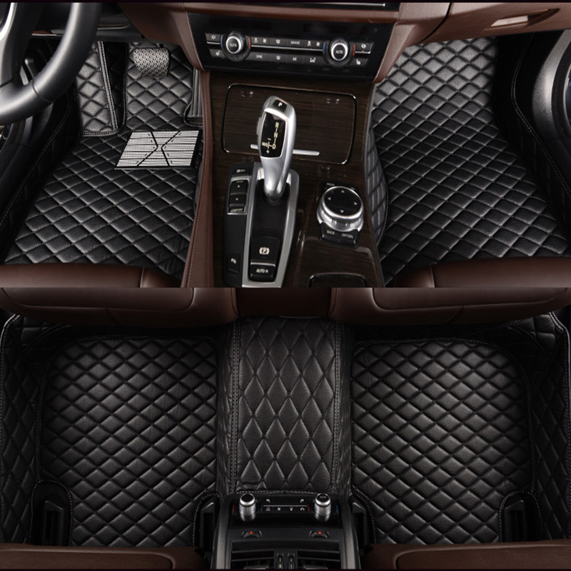 Custom car floor mats For Renault all model clio Kadjar Megane2 3 S.R Captur Latitude Fluence logan laguna car accessories for renault fluence latitude talisman laguna wear resisting waterproof leather car seat covers front