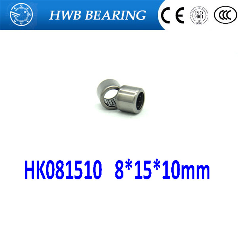 10Pcs HK081510 HK0810 <font><b>8</b></font>*<font><b>15</b></font>*10mm TA810 TA0810 Drawn Cup Type Needle Roller Bearing <font><b>8</b></font> <font><b>x</b></font> <font><b>15</b></font> <font><b>x</b></font> 10mm Free shipping High Quality image