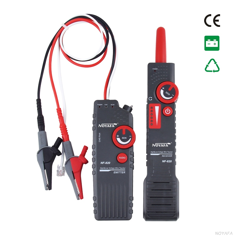 New NF-820 RJ45 RJ11 BNC Tester High & Low Voltage Cable tester Underground Cable Finder Anti-Interference Wire Tracker