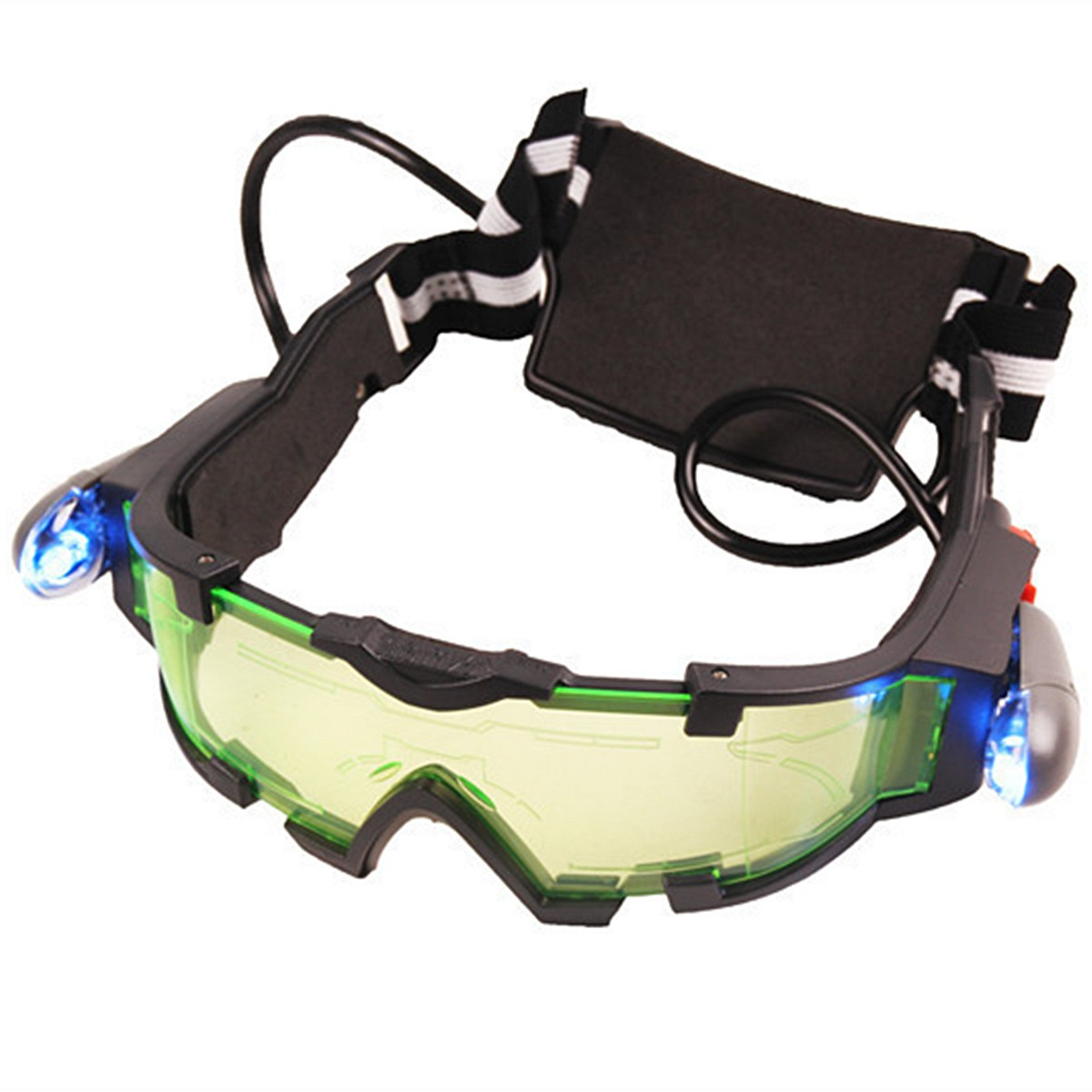 NEW Adjustable ElasticMilitary Night Vision Goggles Glasses Security Eyeshield Workplace Safety Eye Protection new polarized driving sunglasses glasses mirror night and day dimming night vision glasses