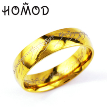HOMOD 2019 Dropshipping Midi Ring Tungsten One of Power Gold the Lord Lovers Women and Men Fashion Jewelry