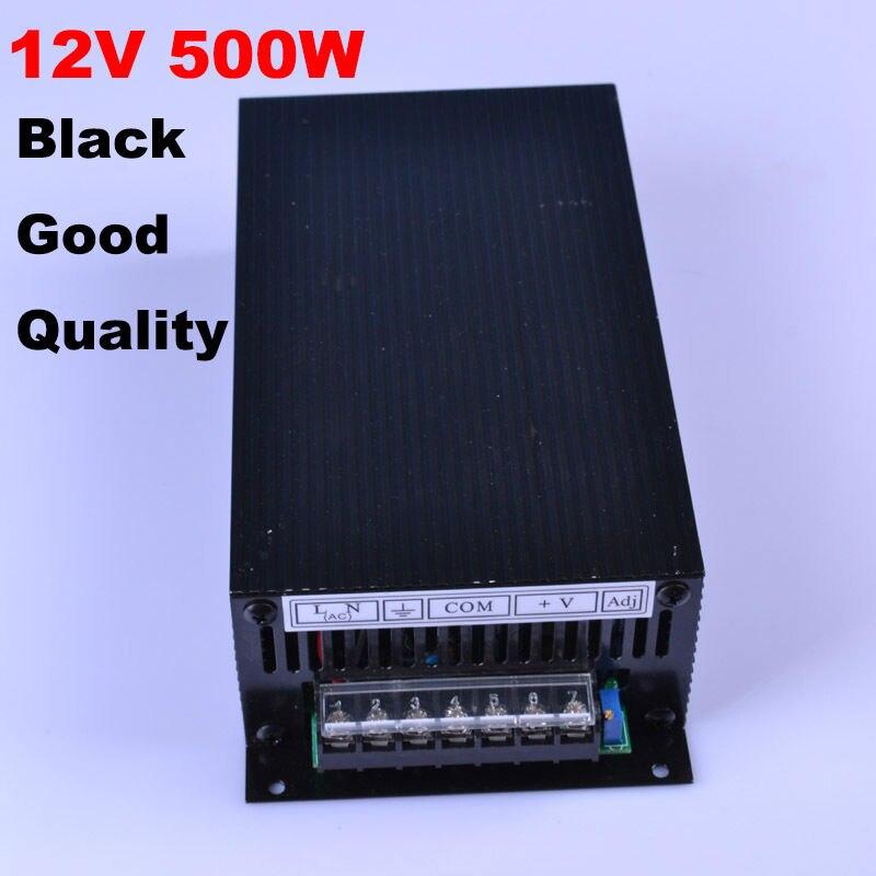 ブラック良い品質12ボルト500ワットスイッチング電源12ボルトledドライバ、アルミac110 220ボルトに12ボルト照明トランス用ledライト  グループ上の ライト & 照明 からの 照明変圧器 の中 1