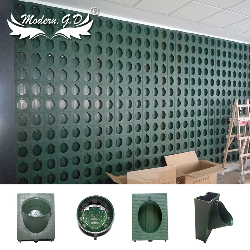 Factory Price Plastic Garden Wall Plants Pot With Hydroponic Grow Systems