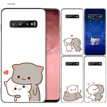 Soft Cute Cat Heart Painted Case For Samsung Galaxy S9 S8 A8 A6 J4 J6 Plus A7 A9 J8 2018 S7 Edge Note 9 8 Cover(China)