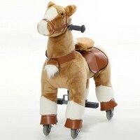 Механическое животное ездить на лошади игрушки для От 7 до 14 лет детей и взрослых Плюшевые M Размеры отказов вверх вниз верховой езды скутер