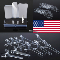 1Set 4pcs Dentist Oral Orthodontic Intraoral Stainless Steel Photographic Mirrors 10pcs Retractor Mouth Cheek Openers