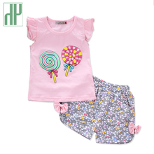 Toddler Girls clothing set 2018 O-Neck summer top+Pants 2 Pcs kids casual sport suits Clothing Sets Children outfits
