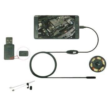 6LED 7mm Objektiv Endoskop Wasserdicht Inspektion Endoskop Kamera für Android