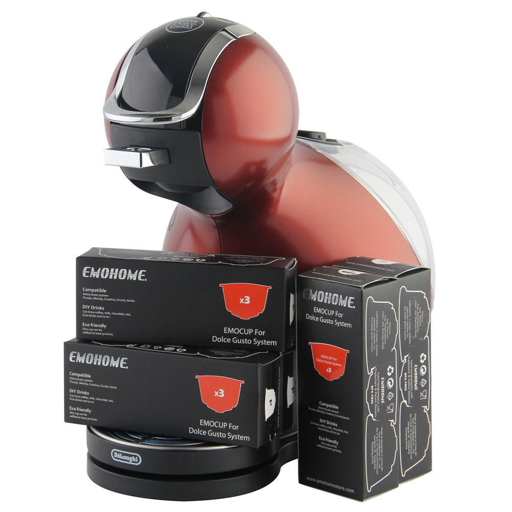 EMOHOME Reusable Refillable Coffee Capsules Compatible with Dolce Gusto Nescafe System, not machine, wholesale