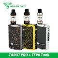 Original smok tanque con vaporesso tfv8 tarot pro 160 w vaping kit tfv8 nube tanque 5.5 ml/6 ml y tarot pro box smok mod vs extranjero