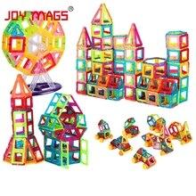 JOY MAGS Toy Mini Magnetic 100 110 130 Pieces lot Construction Building Blocks Toys DIY 3D