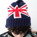2016 new winter warm hooot handsome British Jack Flag knit hats for men and women