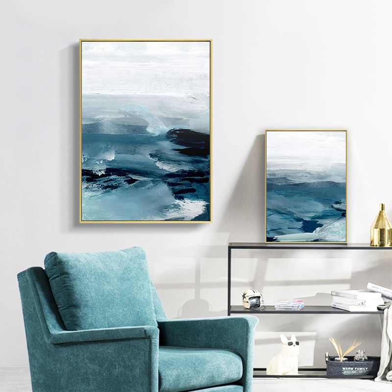Abstract Ocean Landscape Wall Canvas 29
