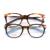 Mulher óculos de armação armações designer de marca de alta qualidade barato armações de óculos de prescrição óculos 7633