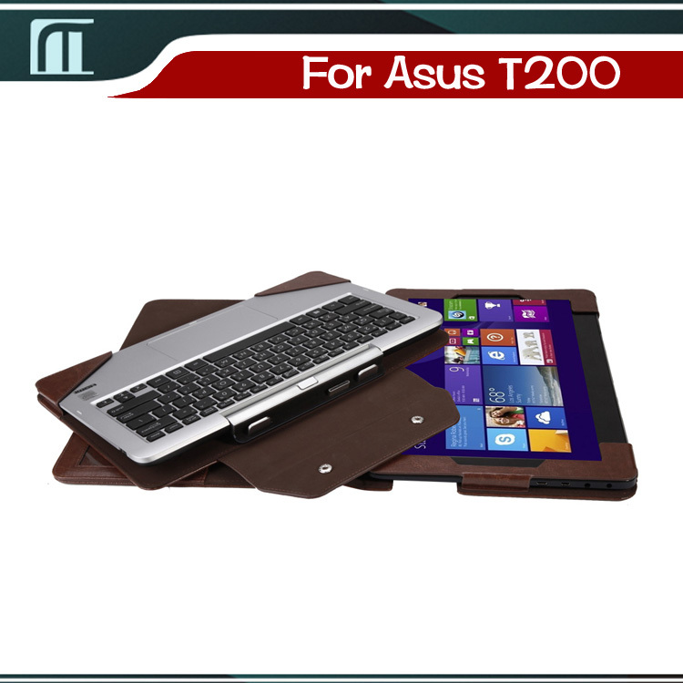 With Screen protection film Folio PU Stand Leather Case Cover For Asus Transformer Book T200TA T200T T200 11.6 inch Tablet PC g case executive чехол для asus transformer book t200ta black