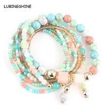 844c9dc563ef 8 Pieces Stone Multilayer Beads Stack Bracelets   Bangles for Women Men  Bohemian Women Bracelet Jewelry Mujer Pulsera JJAL B761