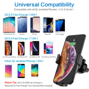 Image 5 - FLOVEME Qi Wireless Charger สำหรับ iPhone X 8 10W สำหรับ Samsung Galaxy S9 S8 โทรศัพท์ผู้ถือชาร์จในรถ