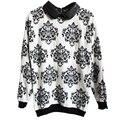 Otoño invierno Moda Mujer Suéter Floral Ocasional Delgado Suéter de Punto Tops Blusas Femininas