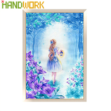 "RODYKLĖ ""Full Diamond Painting"" 5D ""DIY"" deimantų siuvinėjimas ""Cross Stitch"" ""Little Girl"" ""Holding"" deimantų mozaikos ""Home Decorating"""