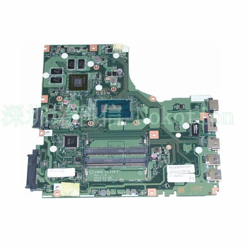 A4WAB LA-C341P For acer aspire E5-473 laptop motherboard I7-5500U +NVIDIA GeForce 920M