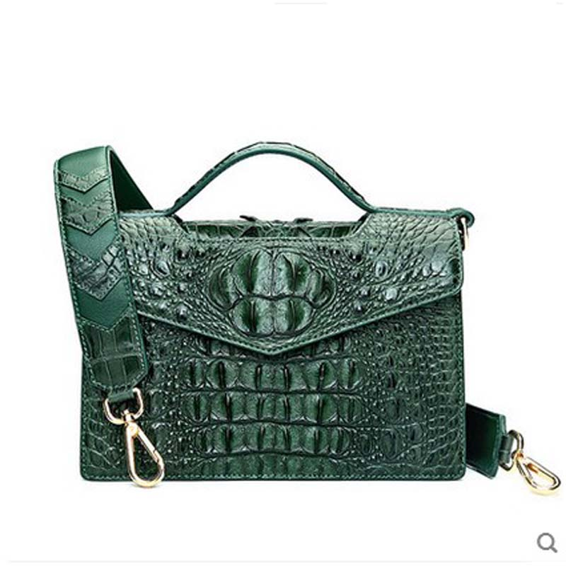 2018 hlt thai crocodile skin women handbag woman 2017 new leather bag luxury high-end single shoulder slant cross small package yuanyu 2018 new hot free shipping crocodile women handbag wrist bag big vintga high end single shoulder bags luxury women bag