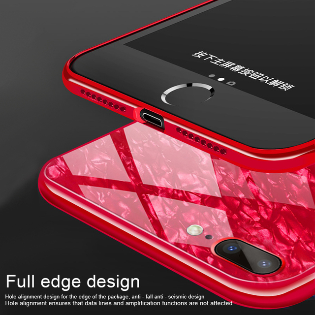 Luxury Tempered Glass Coque For Iphone 6 X Case 8 8 Plus Glitter Funda Shell Case For Iphone 6 6S 7 Plus Case For Iphone X Etui -  - iphone-case