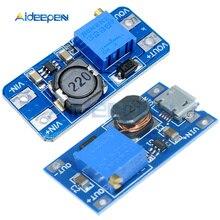 1 шт. MT3608 DC-DC Регулируемый повышающий преобразователь постоянного тока модуля 2A повышение пластина Step Up Модуль с MICRO USB 2 V-24 V 5V 9V 12V 28V