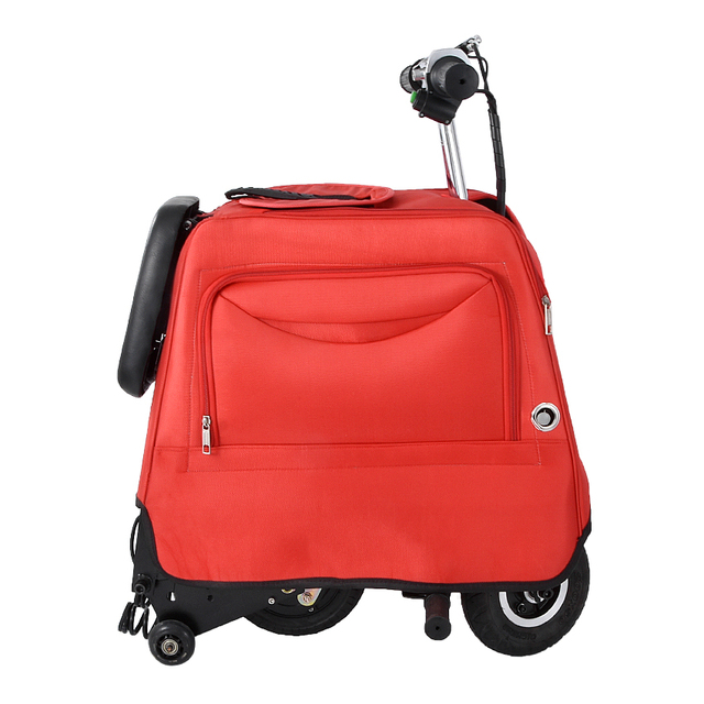 Electric Ride On Suitcase Travel Rolling Luggage Rideable Trolley Case Cabin Carry On Box