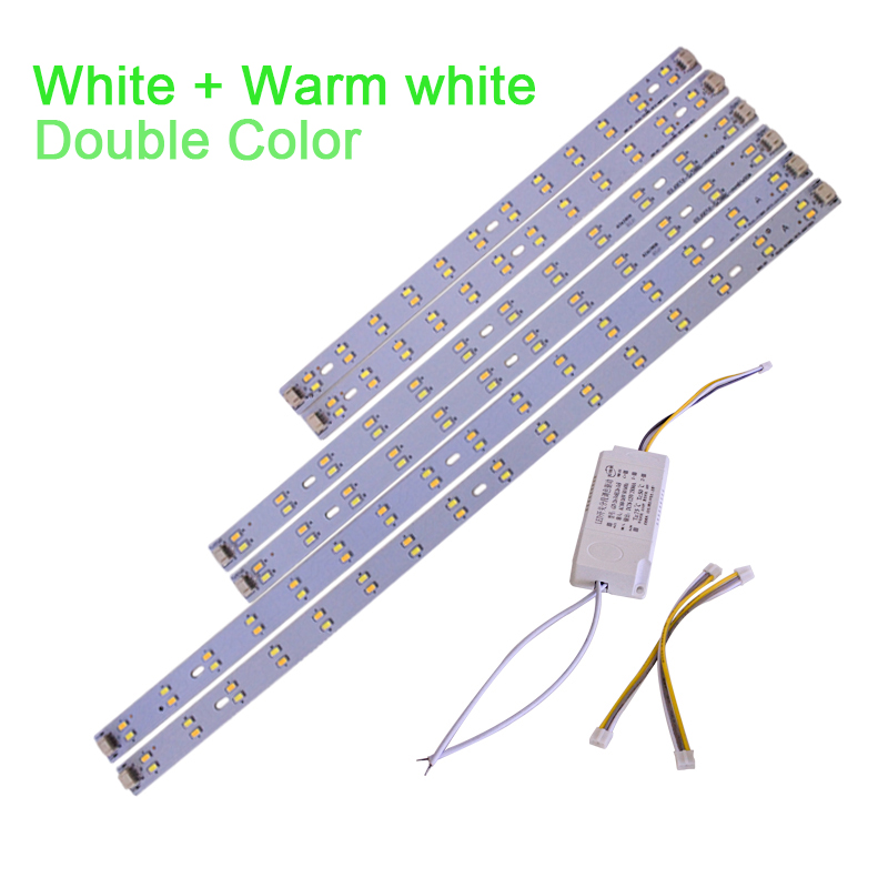 DIY Led Ceiling Tube light Replacement Tube lamp AC85-265V Double color White/Warm white Magnetic Rectangular Square kinfire circular 6w 420lm 6500k 30 x smd 3528 led white light ceiling lamp w driver ac 85 265v