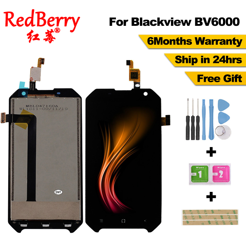 Redberry For Blackview BV6000 LCD Display+Touch Screen 100% Original New Tested Digitizer Glass Panel Replacement For BV6000