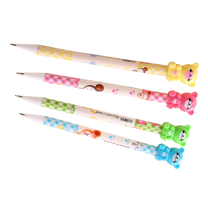 0 7mm Plastic Drawing Mechanical Pencil Bear Automatic Pens Writing Stationery School Supplies Joy Corner in Mechanical Pencils from Office School Supplies