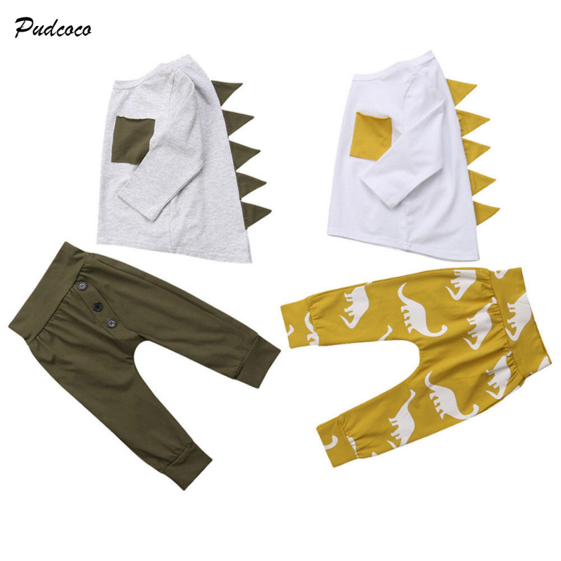 new concept bad40 cd16b pudcoco 2PCS Baby Boy Clothes Outfits Children Clothing Set