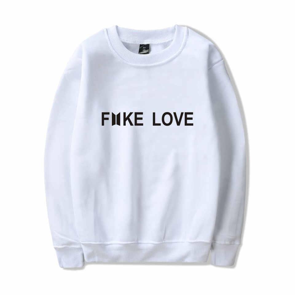 2018 BTS KPOP Fake Love Hoodies Women MenPrinted Cool Funny Sweatshirt Hip  Hop Fashion Streetwear Sweatshirt Women Bts Hoodie